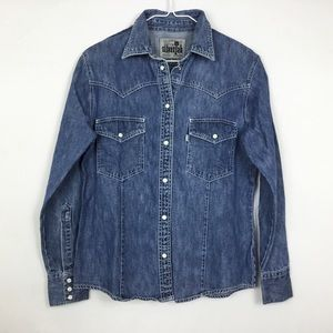 Levis Silvertab Denim Button Down Shirt Top